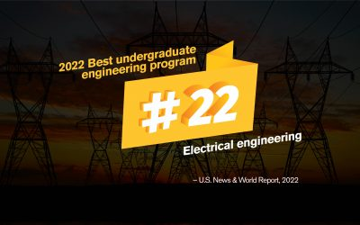 Electrical engineering ranked in the top 25 nationally